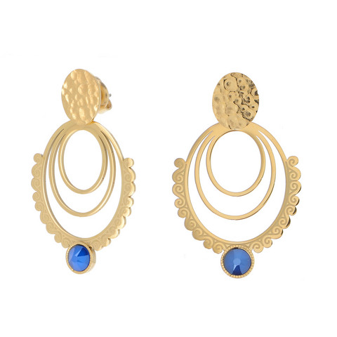 Korvakorut, BOHM PARIS|Boucles Melina avec cristal royal blue
