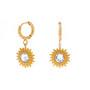 Korvakorut, BOHM PARIS|Boucles D'oreilles Soleil avec cristal clair