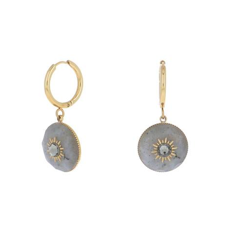 Korvakorut, BOHM PARIS|Boucles D'oreilles Elly avec pierre labradorite