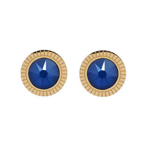 Korvakorut, BOHM PARIS|Boucles D'oreilles Miel avec cristal Royal Blue