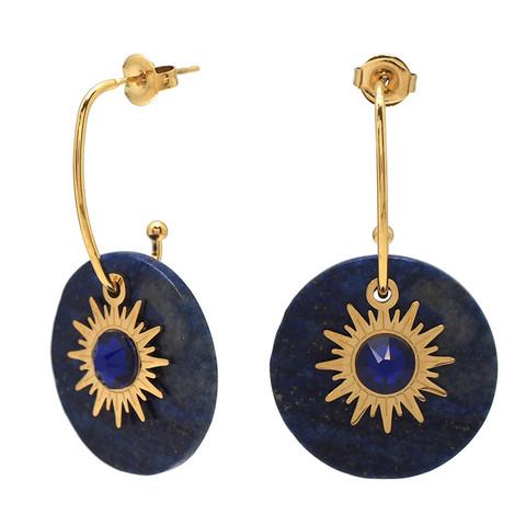 Korvakorut, BOHM PARIS|Boucles Anaelle avec lapis lazuli