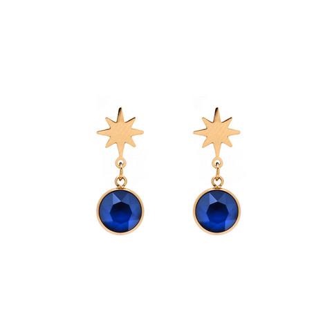 Korvakorut, BOHM PARIS|Boucles Étoile avec cristal royal blue
