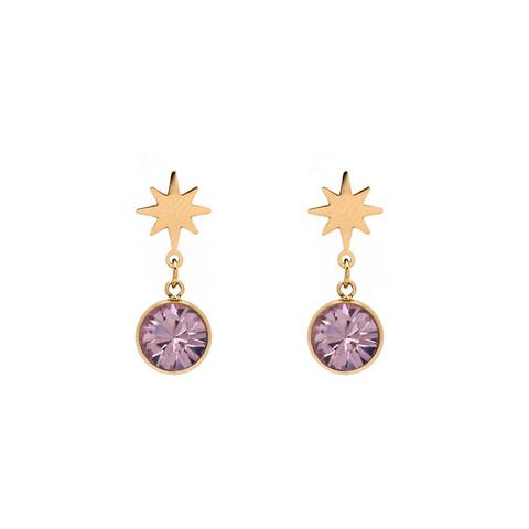 Korvakorut, BOHM PARIS|Boucles Étoile avec cristal light améthyste
