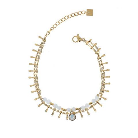 Rannekoru, BOHM PARIS|Bracelet Mandy avec agate blanche