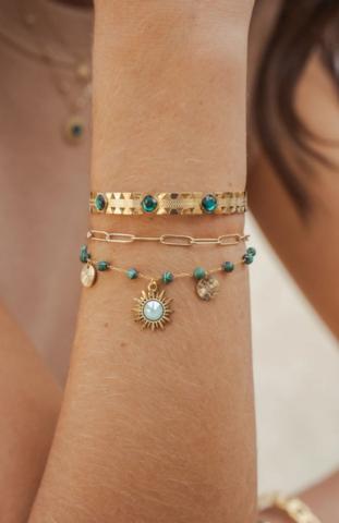 Rannekoru, BOHM PARIS|Bracelet Siloé avec malachite