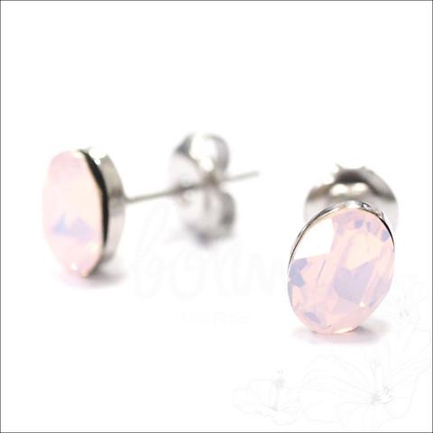 Korvakorut, BOHM PARIS|Boucles Sylvie avec cristal rose