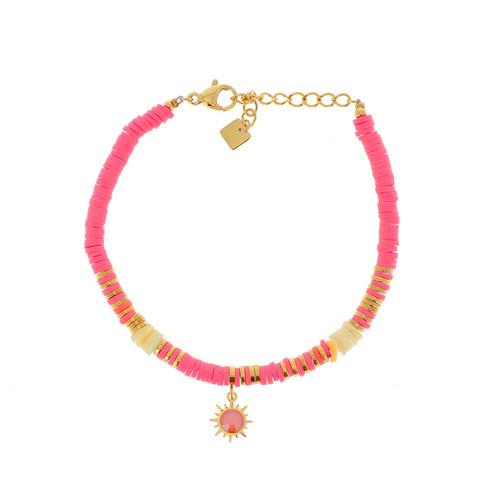 Rannekoru, BOHM PARIS|Bracelet Surf avec cristal pink