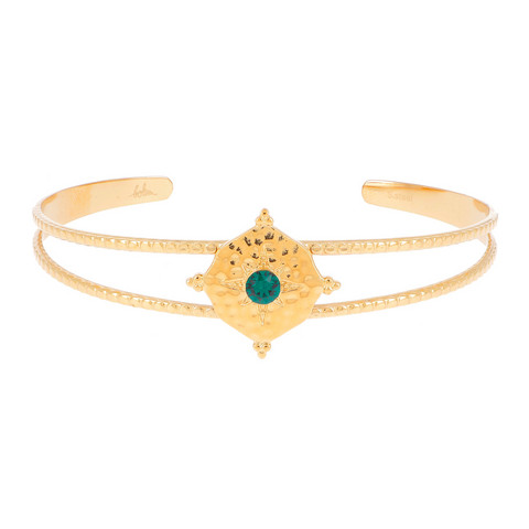 Rannekoru, BOHM PARIS|Bracelet Loulita avec cristal emerald green