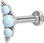 Rustokoru/traguskoru, Medium Titanium Curved Labret with Opal