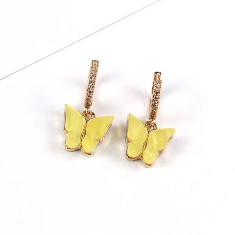 Korvakorut, PAPARAZZI Butterfly Glitter Huggie Hoops in Yellow
