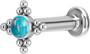 Rustokoru/traguskoru, Titanium Star Flower Labret with Blue Opal