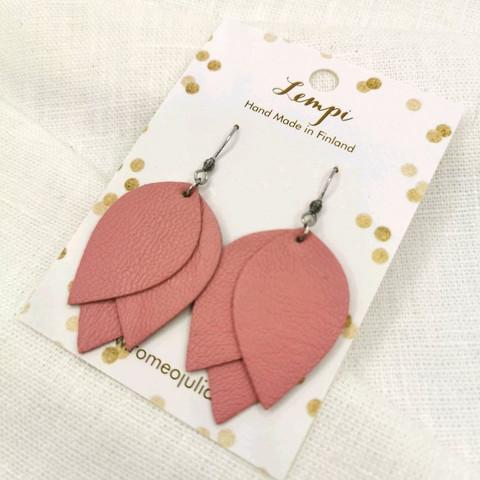LEMPI-korvakorut, Tulppaani (roosa)