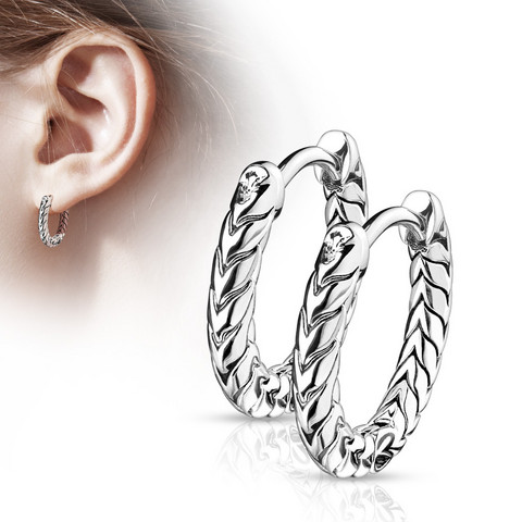 Korvarenkaat, Antique Silver Hoop Rings