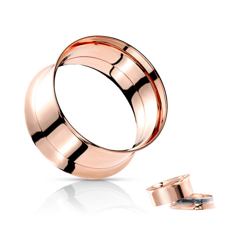 Tunneli 12mm, Double Flared Screw Fit Tunnel in Rosegold