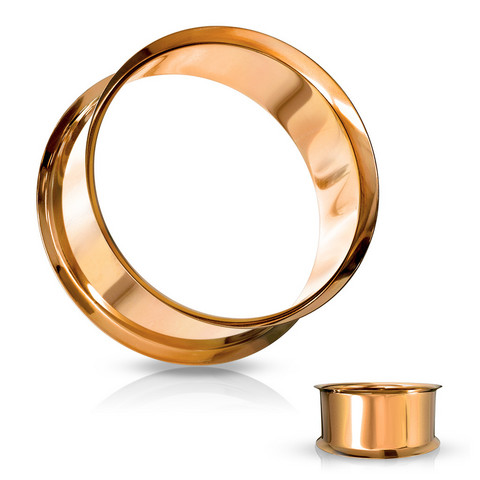 Tunneli 8mm, Double Flared Tunnel in Rosegold