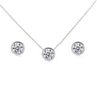 Kristallikorusetti, ATHENA BRIDAL|Classic Necklace Set
