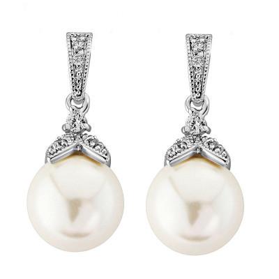 Kristallikorvakorut, ATHENA BRIDAL|Vintage Pearl Earrings