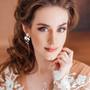 Kristallikorvakorut, ATHENA BRIDAL|Delicate Twine Earrings