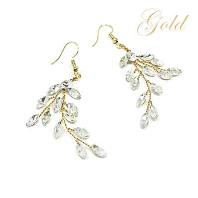 Kristallikorvakorut, ATHENA BRIDAL Crystal Twine Earrings in GD