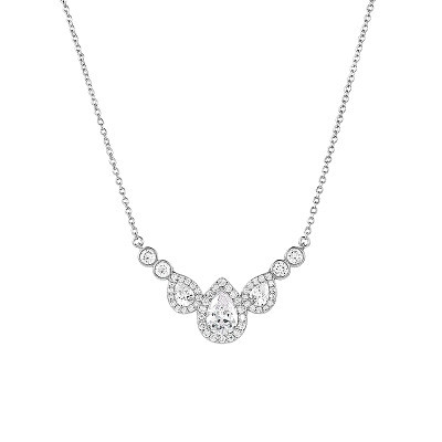 Kristallikaulakoru, ATHENA BRIDAL|Graceful Teardrop Necklace