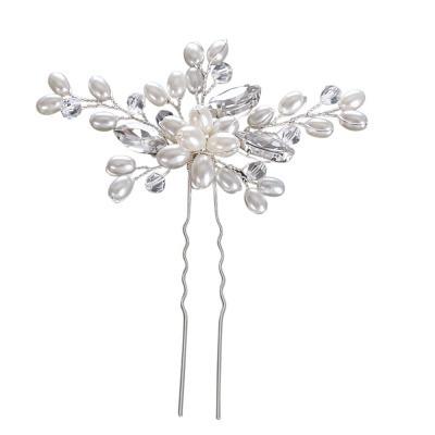 Hiuskoru, ATHENA BRIDAL Silver Hairpin with Pearls