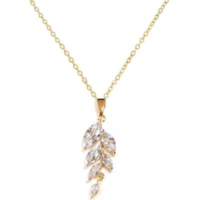 Kristallikaulakoru, ATHENA BRIDAL|Classic Isabella Necklace in Gold