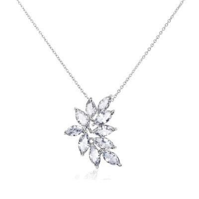 Kristallikaulakoru, ATHENA BRIDAL|Luxurious Cluster Necklace