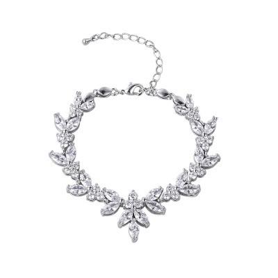 Rannekoru, ATHENA BRIDAL Elegant Cubic Zirconia Bracelet