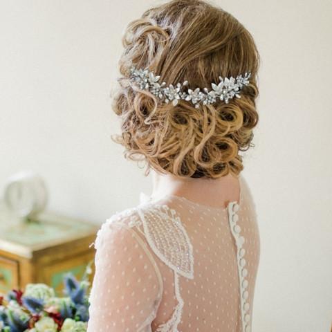 Hiuskoru, ATHENA BRIDAL|Exquisite Flower Crystal Hair Vine