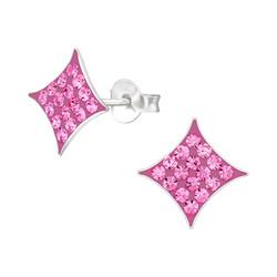 Hopeiset korvanapit, Pink Square -pinkki neliö