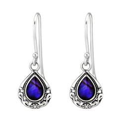 Hopeiset korvakorut, Beautiful Abalone Earrings -simpukkakorvakorut