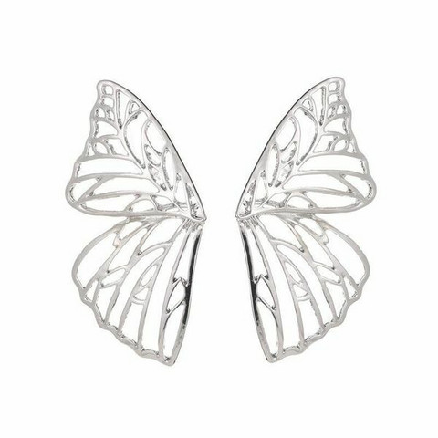 Korvakorut, FRENCH RIVIERA|Large Silver Butterfly Wings