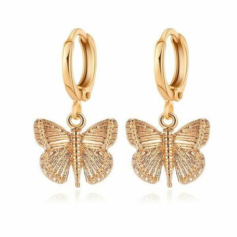 Korvakorut, PAPARAZZI|Gold Butterfly Huggie Hoops