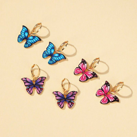Korvakorut, PAPARAZZI Colourful Butterfly Huggie Hoops
