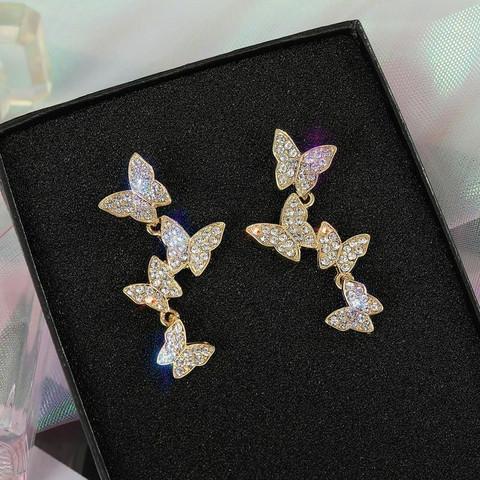 Korvakorut, FRENCH RIVIERA|Four Gold Butterflies -perhoskorvakorut