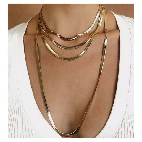 Kerroskaulakoru, FRENCH RIVIERA|Chic Layer Necklace in Gold