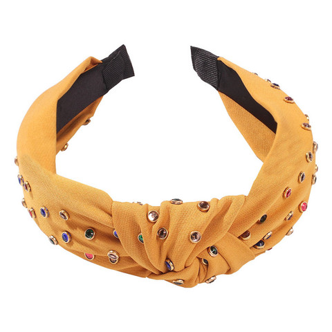 Hiuspanta|SUGAR SUGAR, Yellow Knot Hairband -keltainen solmupanta
