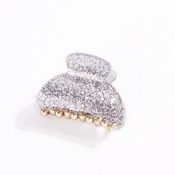 Hiussolki, hainhammas|SUGAR SUGAR, Small Silver Glitter Hairclip