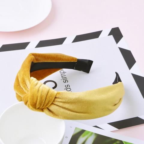 Hiuspanta|SUGAR SUGAR, Suede Knot Hairband in Light Brown -vaaleanruskea panta