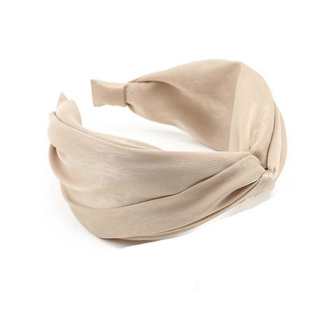 Hiuspanta|SUGAR SUGAR, Wide Knot Hairband in Beige