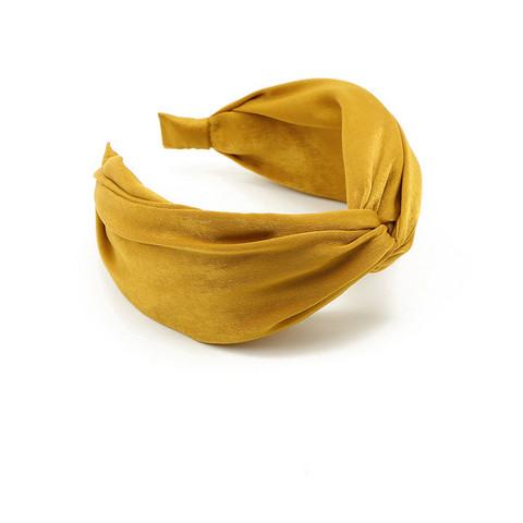 Hiuspanta SUGAR SUGAR, Wide Knot Hairband in Yellow