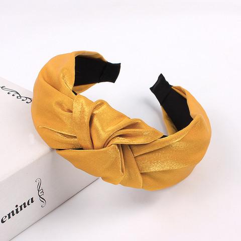 Hiuspanta SUGAR SUGAR, Classic Knot Hairband -leijonankeltainen panta