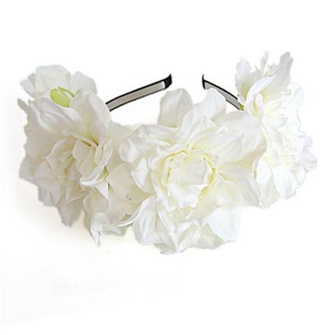 Kukkapanta SUGAR SUGAR, Summer Dreams in White -valkoinen kukkakruunu