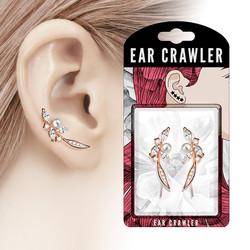 Ear Crawler/Ear Climber, Pearl (rosegold)