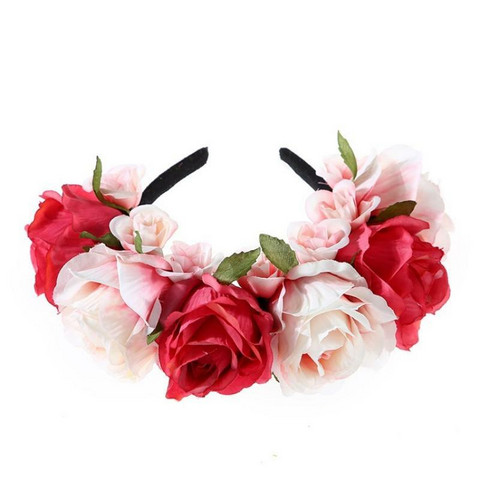 Kukkapanta|SUGAR SUGAR, Summer Roses in Pink -pinkki kukkakruunu
