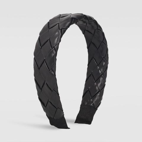 Hiuspanta|SUGAR SUGAR, Chunky Leatherette Hairband in Black
