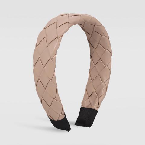 Hiuspanta|SUGAR SUGAR, Chunky Leatherette Hairband in Nude