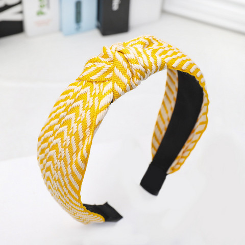 Hiuspanta SUGAR SUGAR, Stripy Hairband in Yellow -keltainen hiuspanta