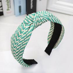 Hiuspanta|SUGAR SUGAR, Stripy Hairband in Green -vihreä hiuspanta