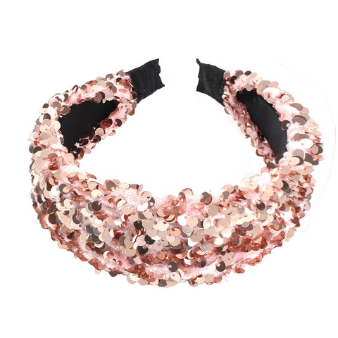 Hiuspanta|SUGAR SUGAR, Sequin Hairband in Rose -roosa hiuspanta